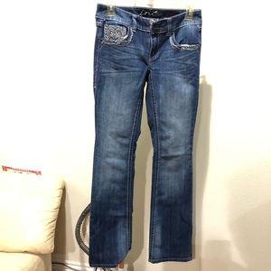 Inc denim women's jeans boot leg regular fit sz 0